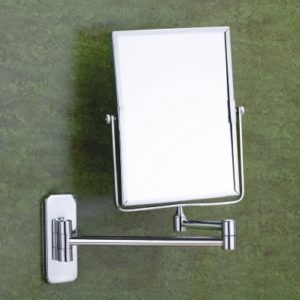 Square shaving mirror